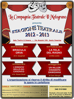Stagione Teatrale 2012-2013